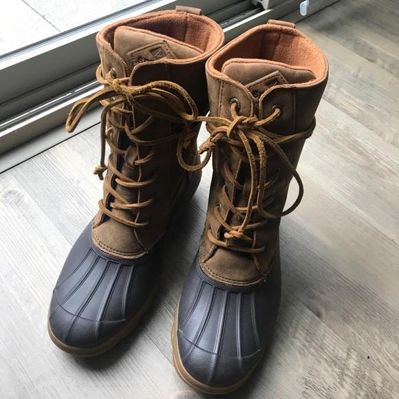 0b584458cc54 Sperry Saltwater Wedge Reeve Waterproof Boot 6.5W.  M 5b9afacc2e14789e0b0911e7